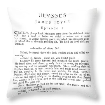 Joyce: Ulysses, 1918 Throw Pillow by Granger