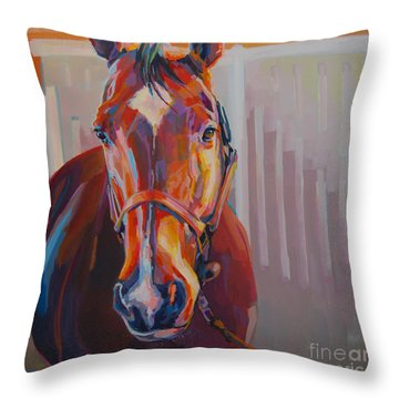 JT Throw Pillow by Kimberly Santini