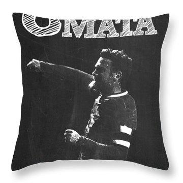 Juan Mata Throw Pillow by Semih Yurdabak
