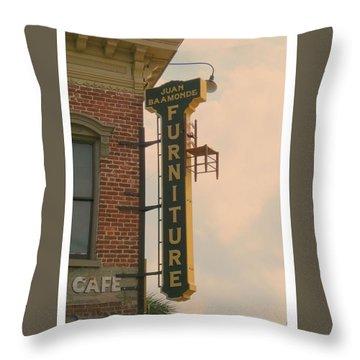 Juan's Furniture Store Throw Pillow by Robert Youmans