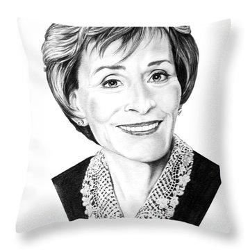 Judge Judith Sheindlin Throw Pillow by Murphy Elliott