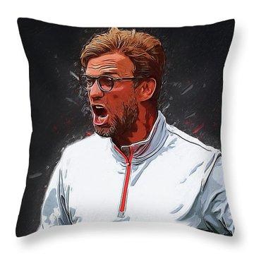Jurgen Kloop Throw Pillow by Semih Yurdabak