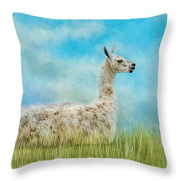 Just Chillin Throw Pillow by Jai Johnson