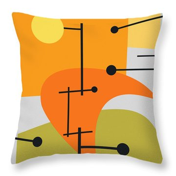 Juxtaposing Thoughts Throw Pillow by Richard Rizzo