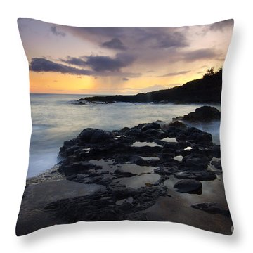 Kauai Storm Passing Throw Pillow by Mike  Dawson