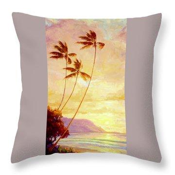 Kauai Sunset Throw Pillow by Jenifer Prince