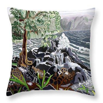 Keanae Throw Pillow by Fay Biegun - Printscapes