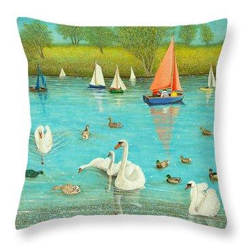 Keeping A Watchful Eye Throw Pillow by Pat Scott