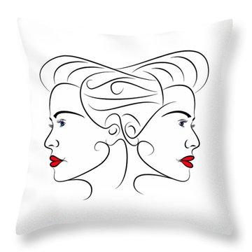 Keironnia V1 - Simple Lines Throw Pillow by Cersatti
