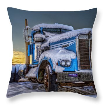 Kenworth Waiting For Summer Throw Pillow by Thomas Payer