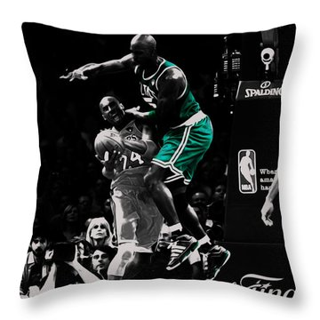 Kevin Garnett Not In Here Throw Pillow by Brian Reaves