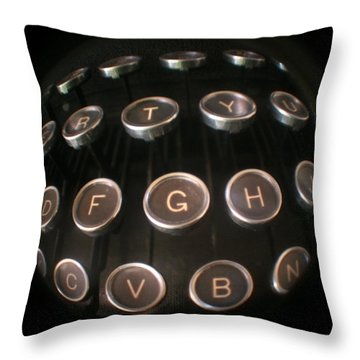 Key To Communication Throw Pillow by Jeffery Ball