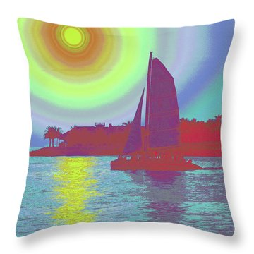 Key West Sun Throw Pillow by Steven Sparks