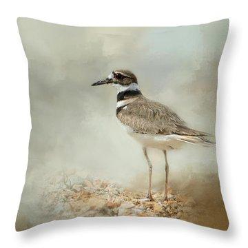 Killdeer On The Rocks Throw Pillow by Jai Johnson