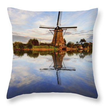 Kinderdijk Throw Pillow by Chad Dutson