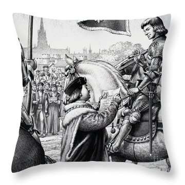 King Henry Vii Throw Pillow by Pat Nicolle