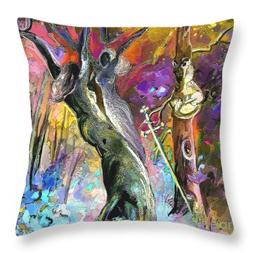 King Solomon And The Two Mothers Throw Pillow by Miki De Goodaboom