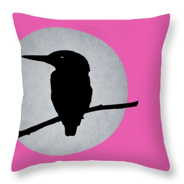 Kingfisher Throw Pillow by Mark Rogan