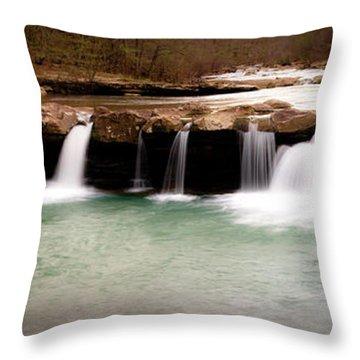 King's River Panorama Throw Pillow by Tamyra Ayles