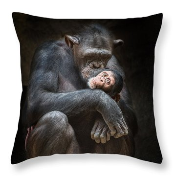 Kiss From Mom Throw Pillow by Jamie Pham