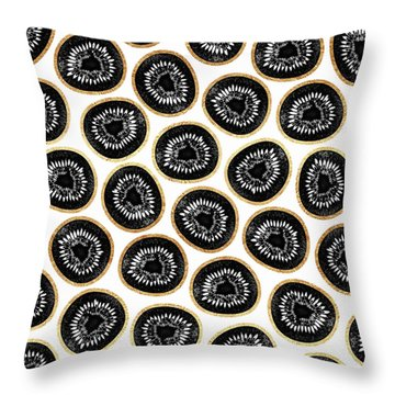 Kiwi Pattern Throw Pillow by Elisabeth Fredriksson