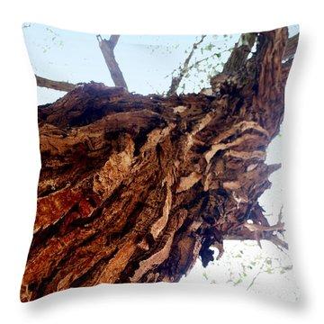 knarly Tree Throw Pillow by Marty Koch