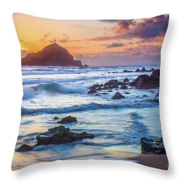 Koki Beach Harmony Throw Pillow by Inge Johnsson