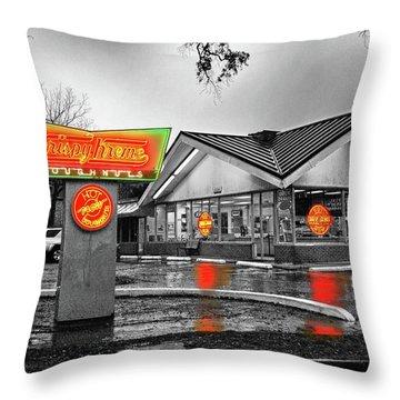 Krispy Kreme Throw Pillow by Michael Thomas