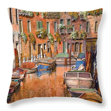 La Curva Sul Canale Throw Pillow by Guido Borelli