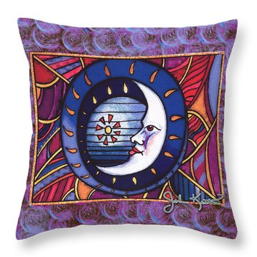 La Luna 2 Throw Pillow by John Keaton