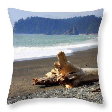 La Push Beach  Throw Pillow by Carol Groenen
