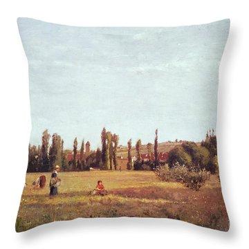 La Varenne De St. Hilaire Throw Pillow by Camille Pissarro