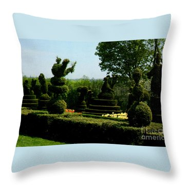 Ladew Topiary Gardens Throw Pillow by Ruth  Housley