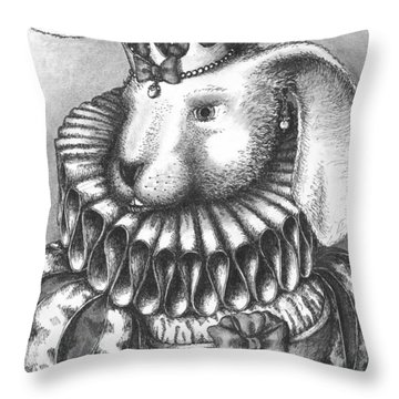 Lady Sadie Of Hoppington Throw Pillow by Adam Zebediah Joseph