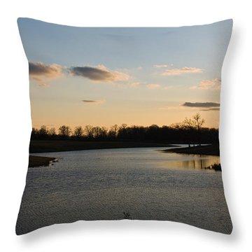 Lake Cumberland County Tennessee Throw Pillow by Douglas Barnett