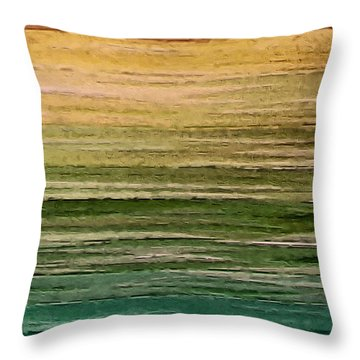 Lake Throw Pillow by Ely Arsha