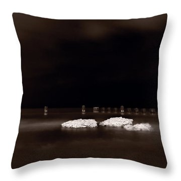 Lake Ice Throw Pillow by Steve Gadomski