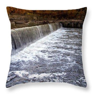 Lake To Lake Waterfall Throw Pillow by Joan  Minchak
