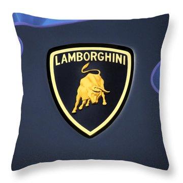 Lamborghini Emblem Throw Pillow by Mike McGlothlen