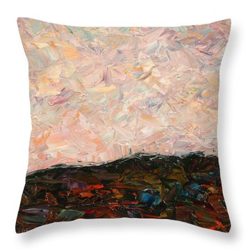 Land And Sky Throw Pillow by James W Johnson