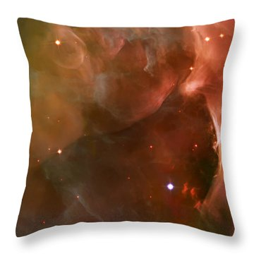 Landscape Orion Nebula Throw Pillow by The  Vault - Jennifer Rondinelli Reilly