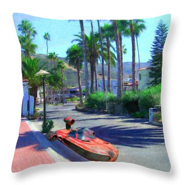 Landspeeder Throw Pillow by Snake Jagger