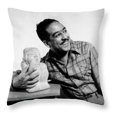 Langston Hughes (1902-1967) Throw Pillow by Granger