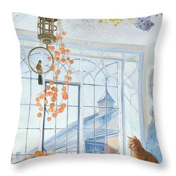 Lanterns Throw Pillow by Timothy Easton