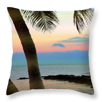 Last Evening Lights Throw Pillow by Susanne Van Hulst