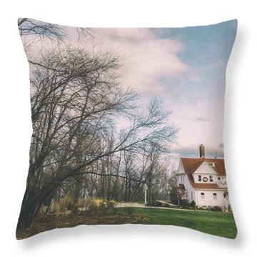 Late Afternoon At The Lighthouse Throw Pillow by Scott Norris