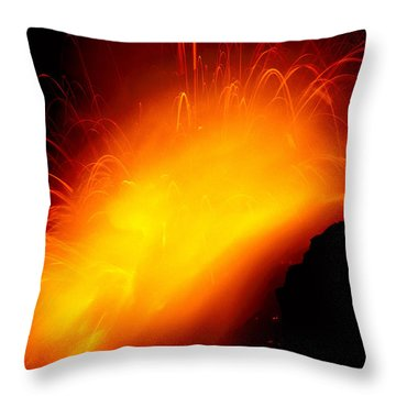 Lava And Steam Throw Pillow by Peter French - Printscapes