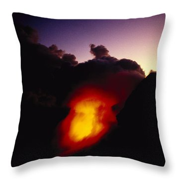 Lava At Dawn Throw Pillow by Ron Dahlquist - Printscapes