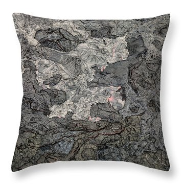 Throw Pillow featuring the photograph Lava Flow by M G Whittingham