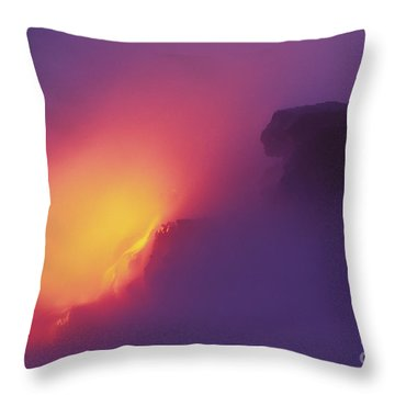 Lava Meets The Sea Throw Pillow by William Waterfall - Printscapes